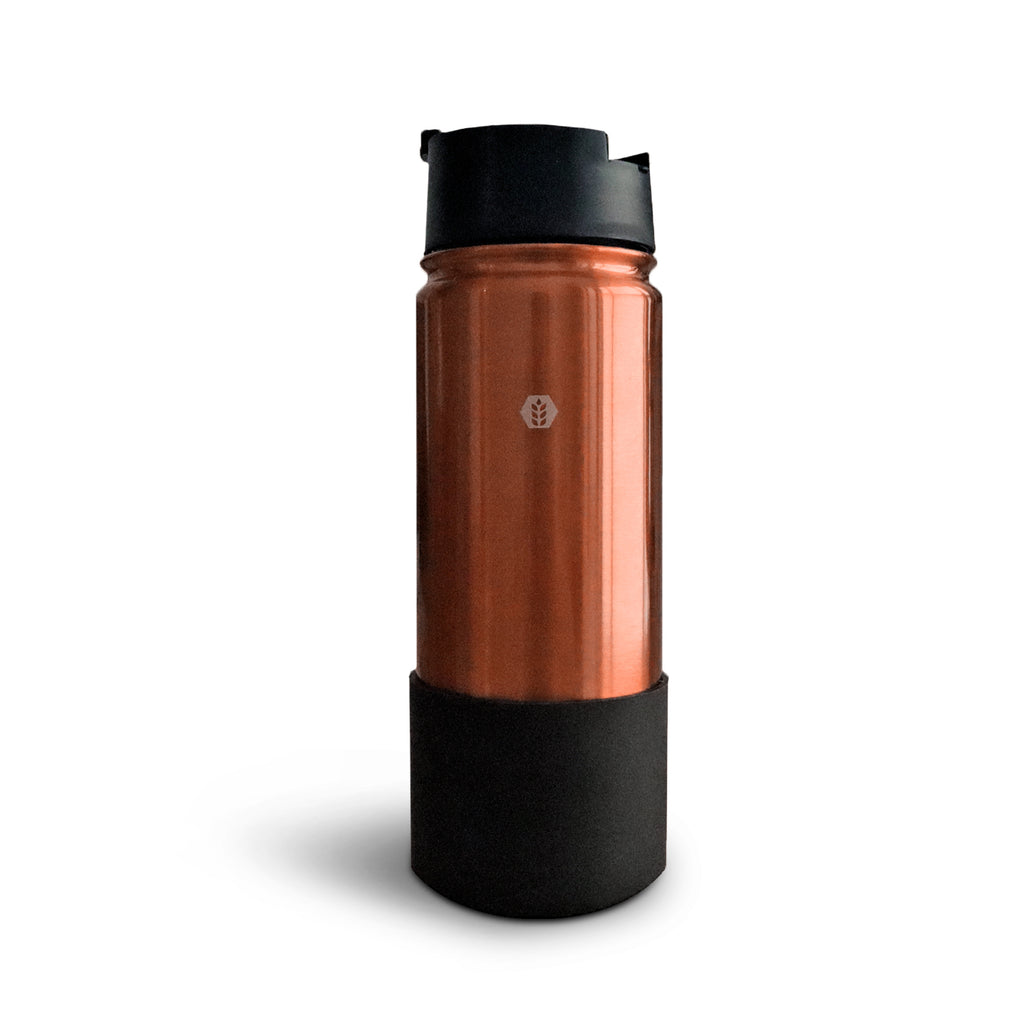 Premium Rose Gold Thermal Shaker Flask 550ml