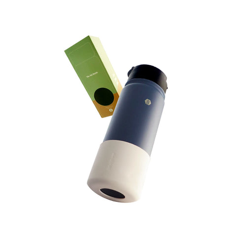 Soluxe Solid Matte Blue Thermal Shaker Flask 550ml