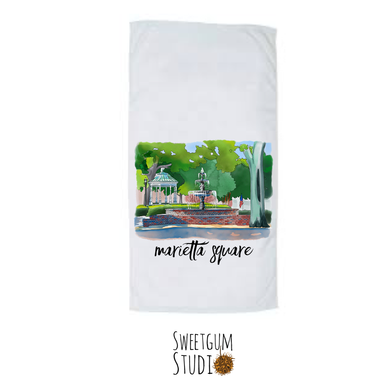 Marietta Square Tea Towels