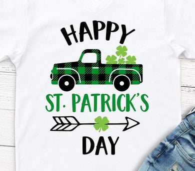 St. Patrick's Day Buffalo Plaid Truck