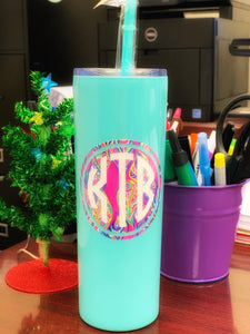 Customized Skinny Tumbler