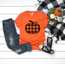 Load image into Gallery viewer, Buffalo Plaid Pumpkin