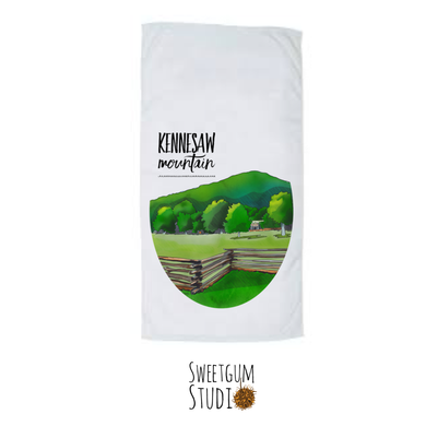 Kennesaw Mountain Tea Towel