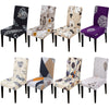 Printed Chair Cover Elastic Seat Chair Covers Removable And Washable Stretch Banquet Hotel Dining Room Arm Office Chair Cover