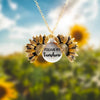 Custom Engraved Sunflower Necklace