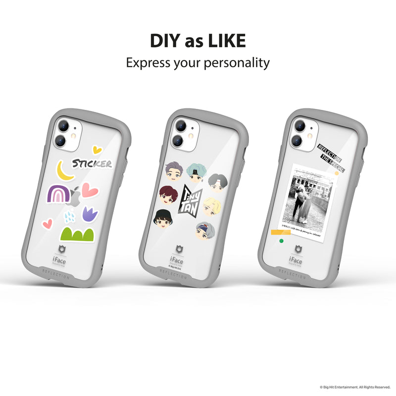 TinyTAN Reflection (Gray) + Inner Sheet (Basic Type) for iPhone 12/12 Pro