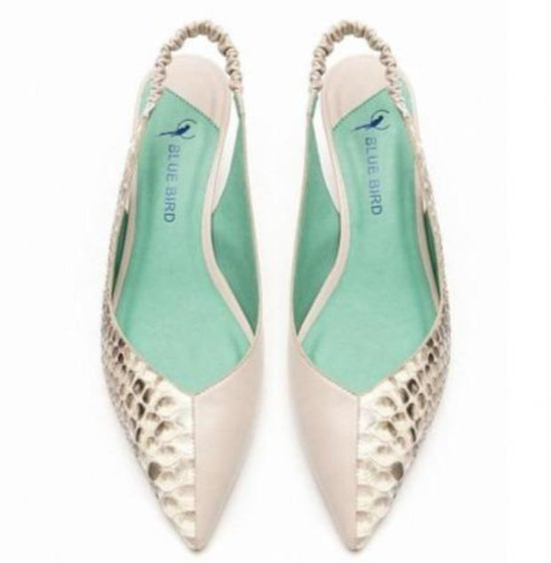 SLINGBACK DUO EXOTIC COURO