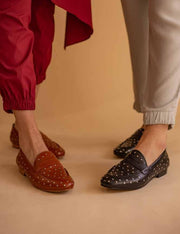 LOAFER PENNY CRAVOS COURO