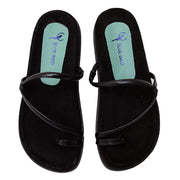 Papete Wedge Camurça Summer Preto