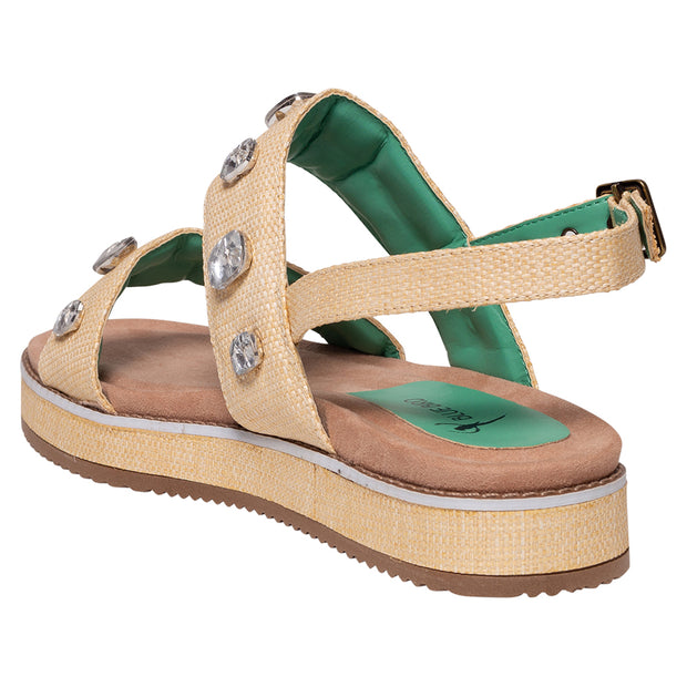 WEDGE CATARINA STONE PALHA