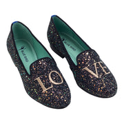 LOAFER LOVE GLITTER PRETO