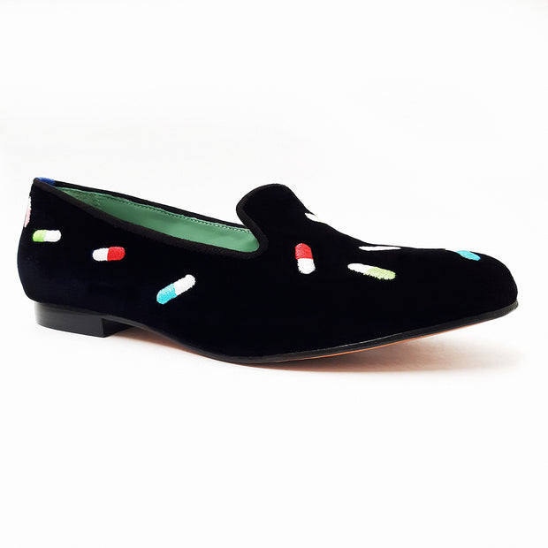 LOAFER NEW PILLS VELUDO PRETO
