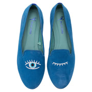 Mocassim Loafer Camurça Blue Eyes Azul