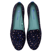 Mocassim Loafer Jacquard Onça Colors Azul