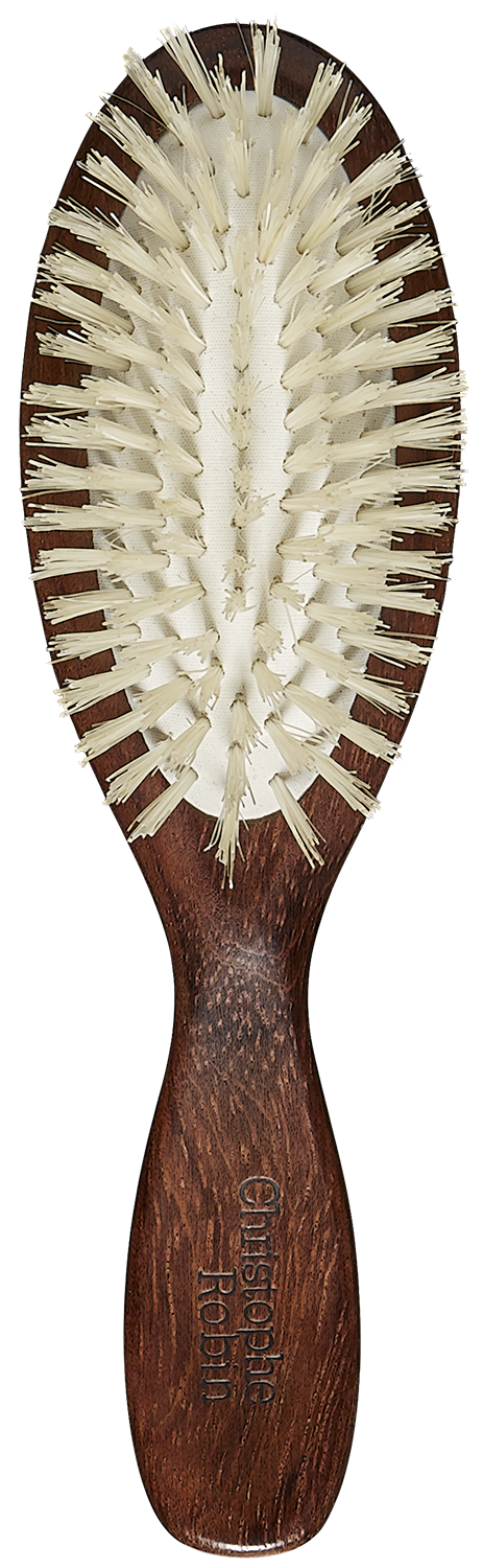 Travel Hairbrush  100% natural boar-bristle & wood