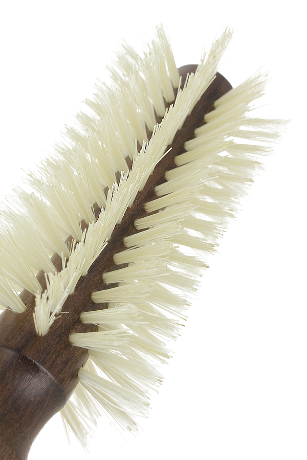 Pre-curved blowdry hairbrush 10 rows 100% natural boar-bristle & wood