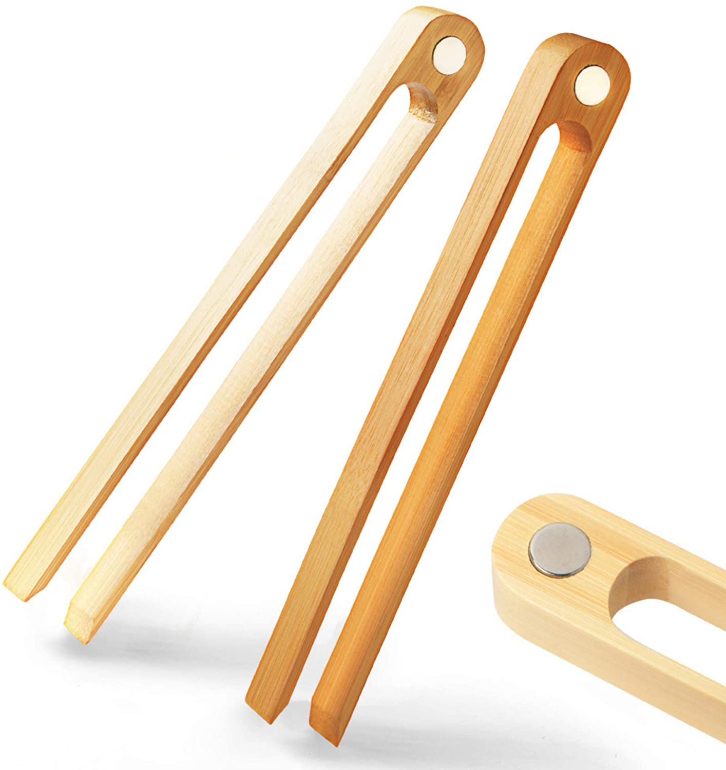 Bamboo Toaster Tongs (2 Pack)