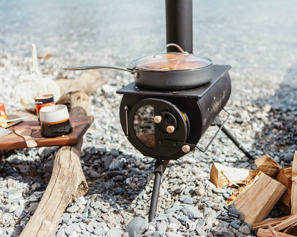 Anevay Frontier Stove - portable outdoor wood burning stove