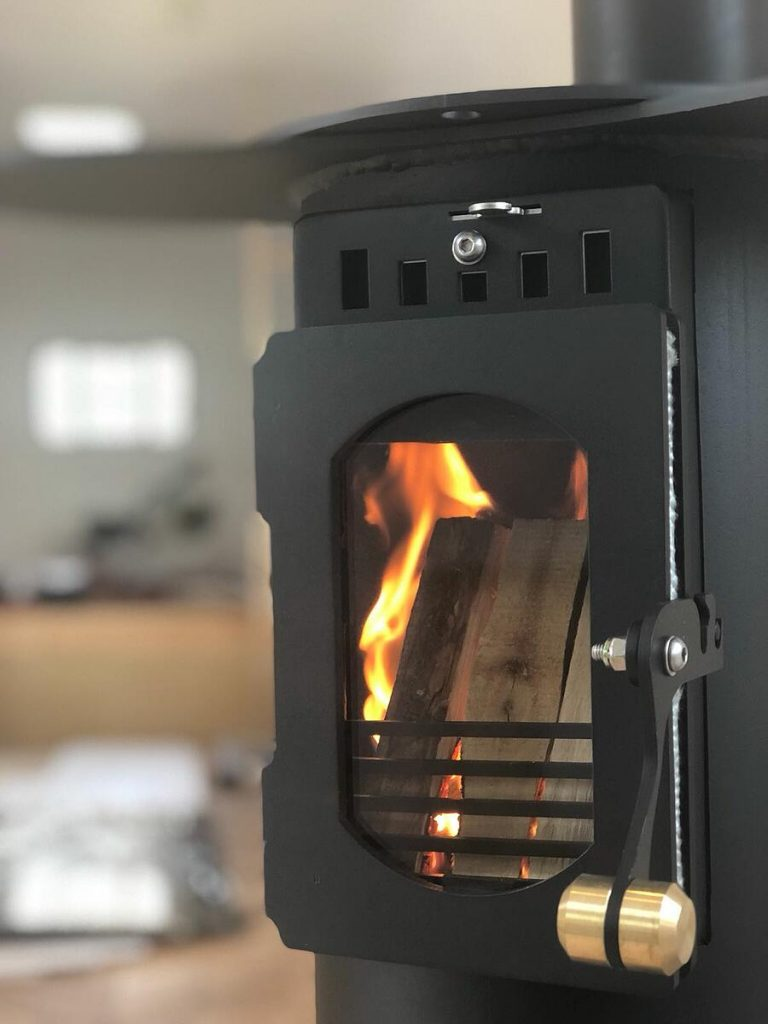 Traveller Stove installation George Clark's Amazing Spaces