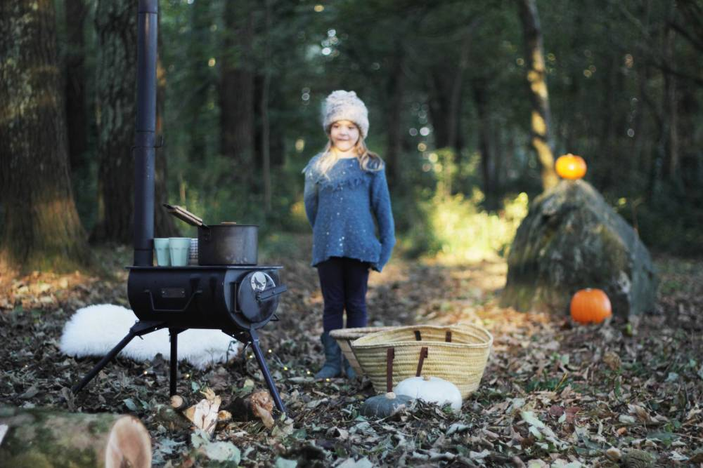 Anevay Frontier Stove in autumn woodland