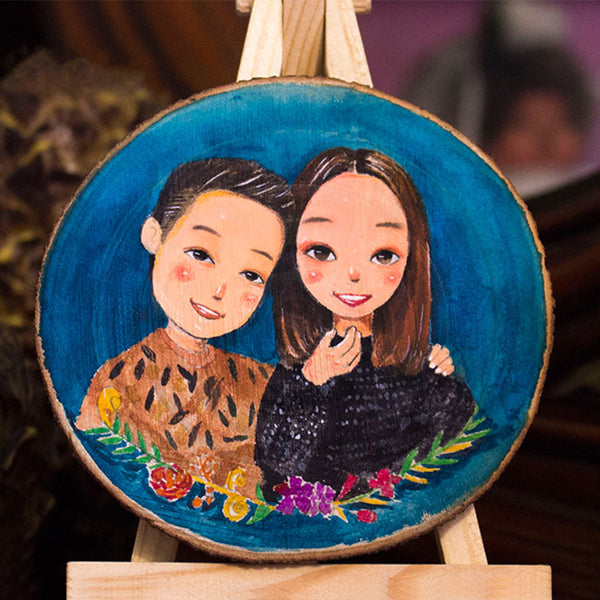 Personalized Photo Hand Painted On Wood