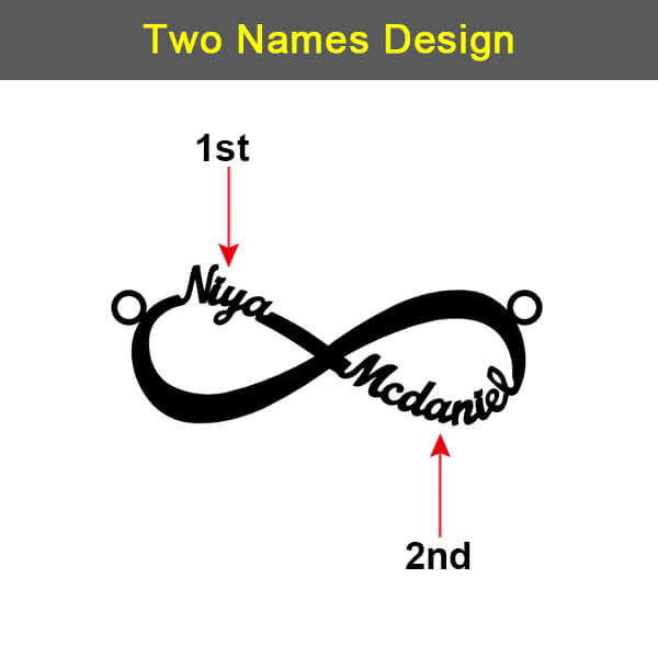 Personalized 1-6 style Infinity Name Necklace - customgiftsmall