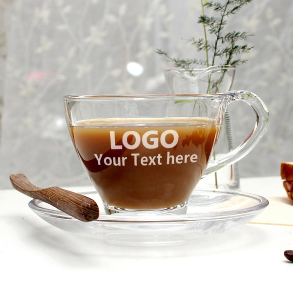 Custom Engraved Coffee Glass Cups(Set of 6)