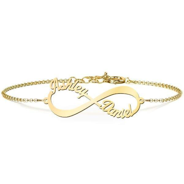 Personalized Infinity Love Name Bracelet  - customgiftsmall