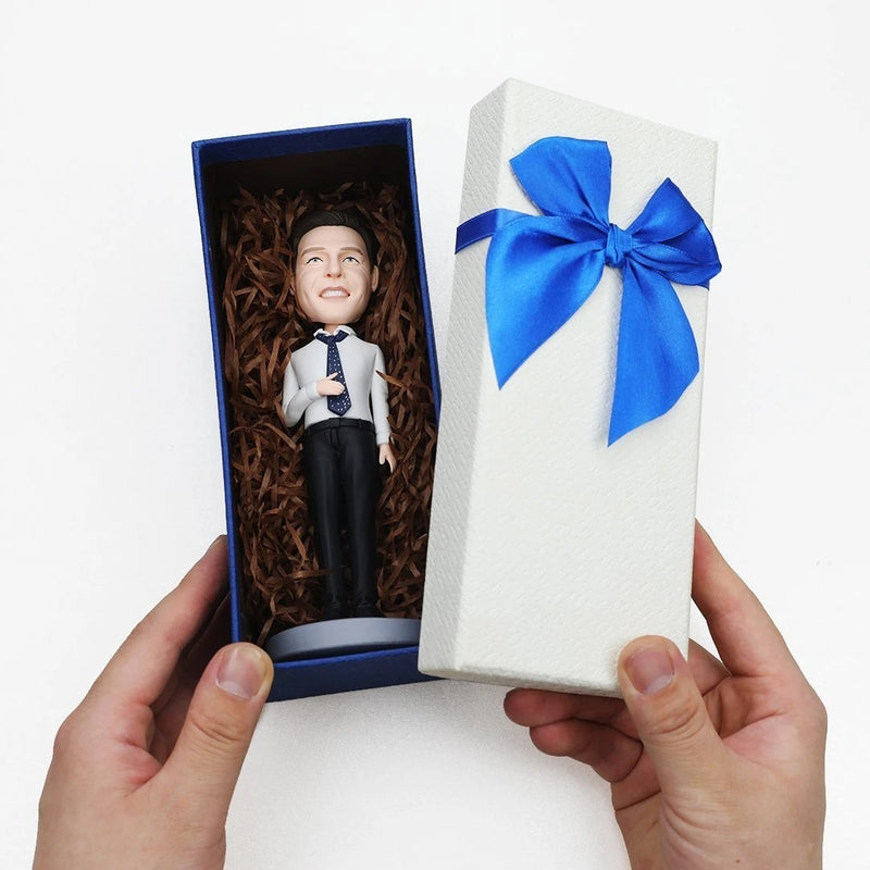 Fully Customizable Bobblehead 1 Person Gift Cake Topper Man
