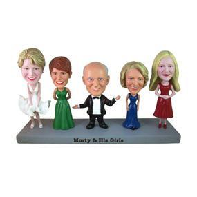 Fully Customizable 5 person Custom Bobblehead