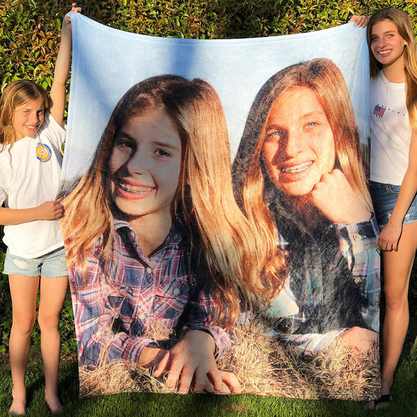 Custom Photo Blanket Personalized With A Photo - customgiftsmall