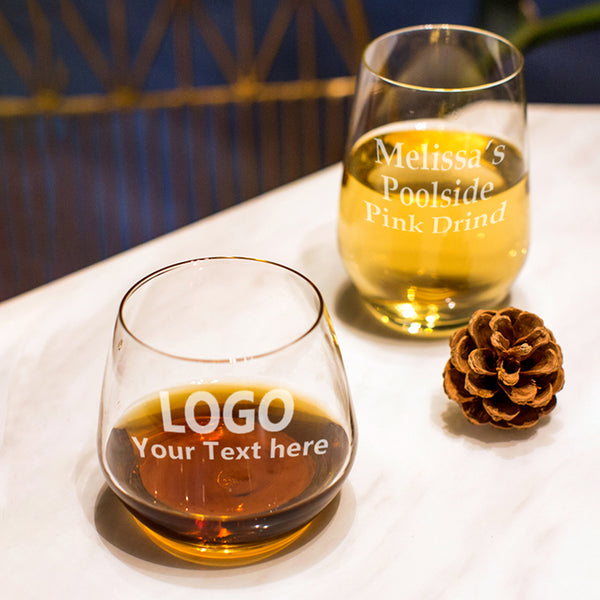 Custom Pot-bellied cup Wine Glasses Cups(Set of 6)