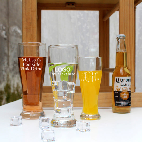 Custom Classic Beer Glass Cups (Set of 6)