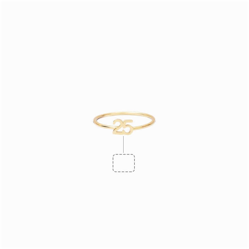 Custom Number Ring in 24k Gold Plating - customgiftsmall