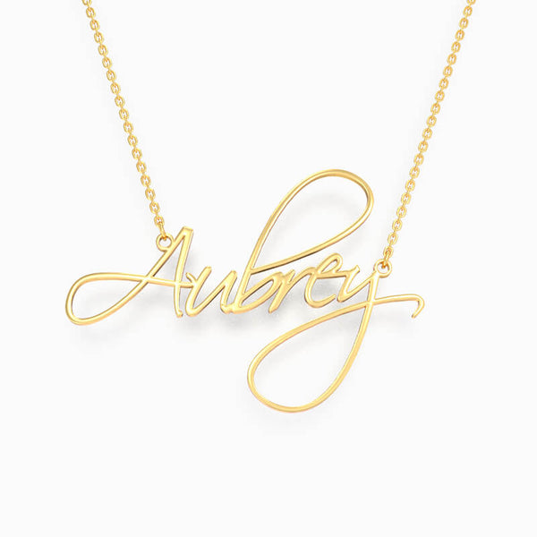 Custom Name Plate Necklace Personalized Delicate Jewelry Gold Plated - customgiftsmall