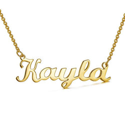 Personalized Choker Name Necklace Solid 24k Gold Plated - customgiftsmall