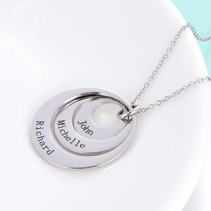 Personalized Engravable Three Disc Name Necklace - customgiftsmall
