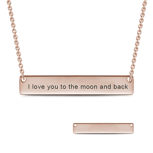 Personalized Bar Necklace For Couple Love - customgiftsmall