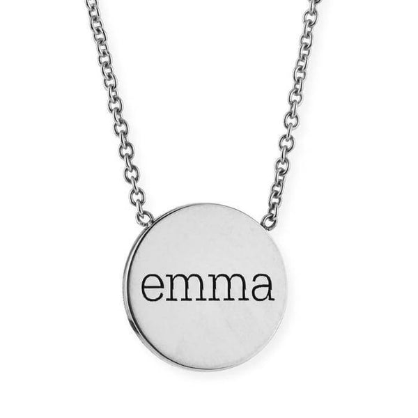 Engraved Name Pendant Necklace With Solid 24k Gold Plating - customgiftsmall