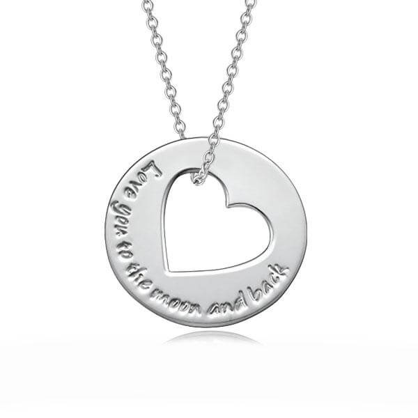 Love Circle Necklace - customgiftsmall