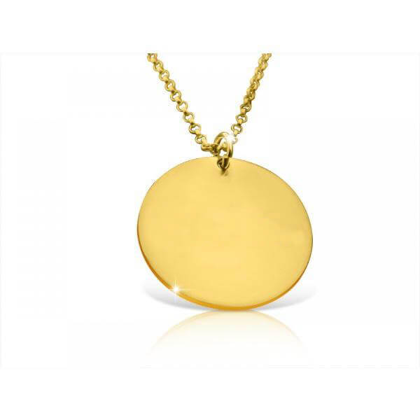 24k Gold-Plated Personalized Disc Name Necklace - customgiftsmall