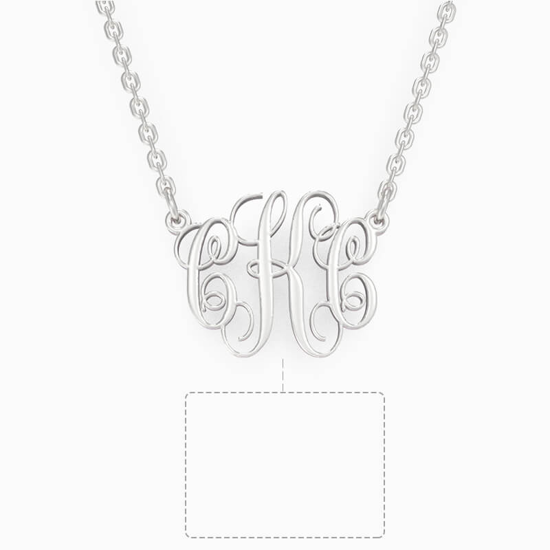 Custom Three Letters Monogram Necklace - customgiftsmall