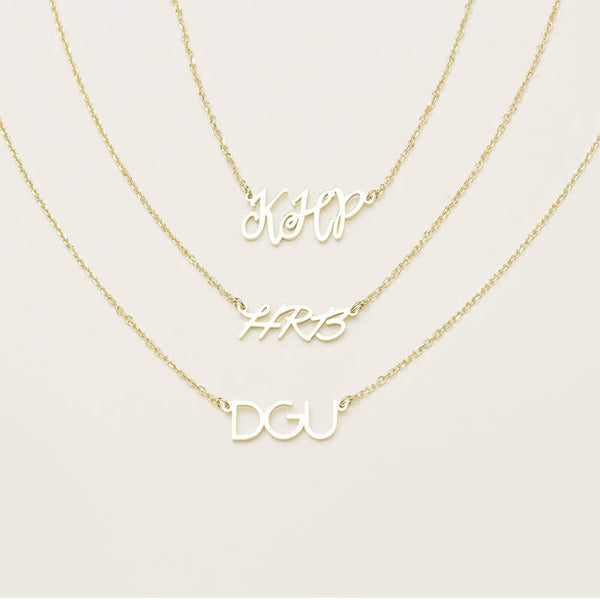 Personalized Initial Letter Necklace - customgiftsmall
