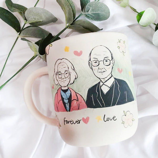 Custom Hand Painted Mug/Bowl/Plate Gifts for Wedding Anniversary Holiday