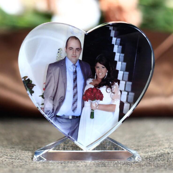 Personalized Wedding Crystal Glass Photo Frame Wedding Gifts