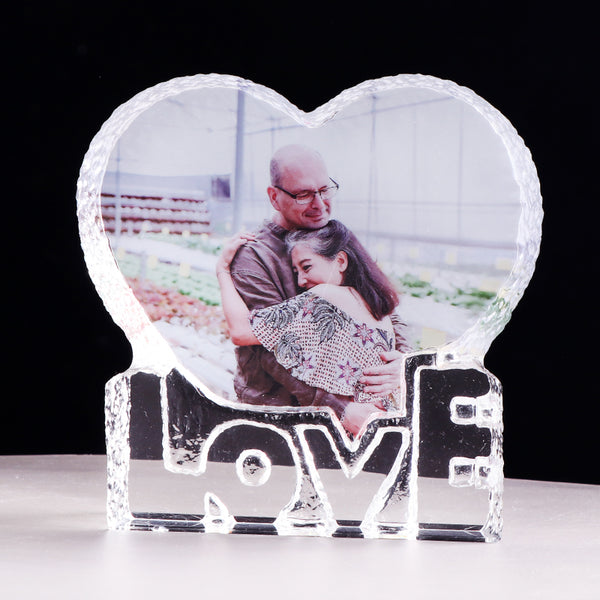 Custom Love Heart Shaped Crystal Photo Album