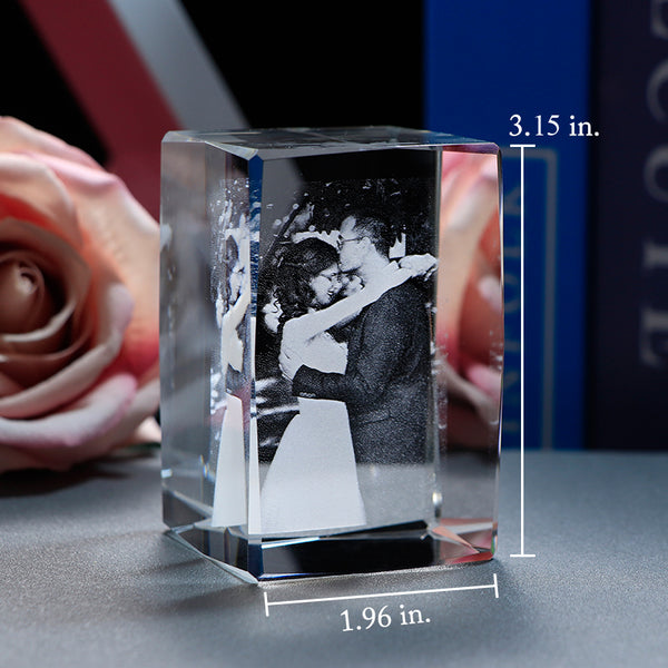 Customized Laser Engrave Crystal Photo Frame Cube