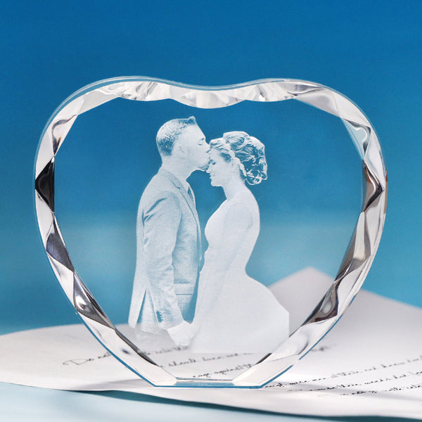 Customized Heart Shaped Curled Crystal Photo Album