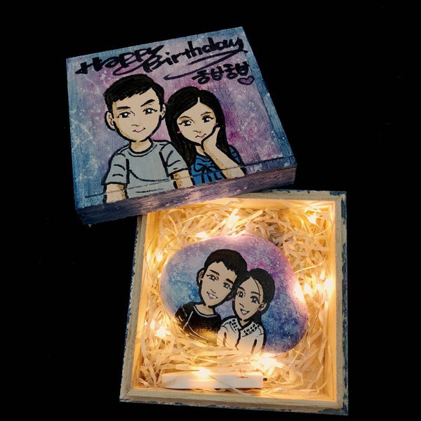 Custom Painted Stone From Your Photo Perfect Anniversary Keepsake - customgiftsmall