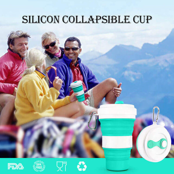 Silicon Collapsible Cup Creative Outdoor Portable Coffee Cup